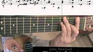 J. Dowland  Melancholy Galliard with music score