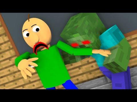 Monster School : ZOMBIE APOCALYPSE Baldi CHALLENGE - Minecraft Animation