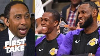 'Rondo's right ... LeBron was their MJ' - Stephen A. reacts to Rajon's Lakers comments | First Take