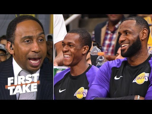'Rondo's right ... LeBron was their MJ' – Stephen A. reacts to Rajon's Lakers comments   First Take