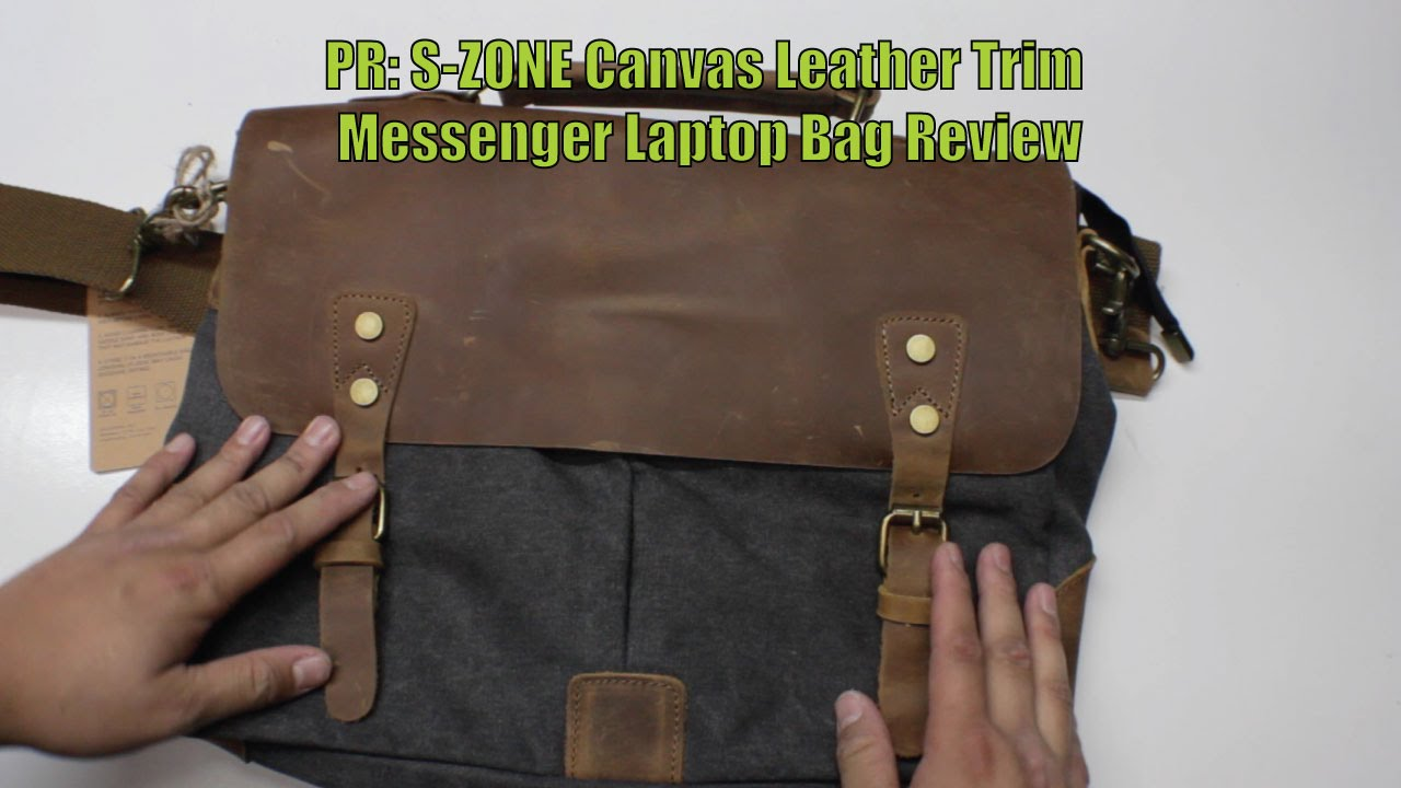 Pr S Zone Canvas Leather Trim Messenger Laptop Bag Review