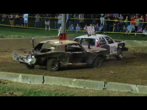 2018 Geauga County Fair Demolition Derby - Heat 5