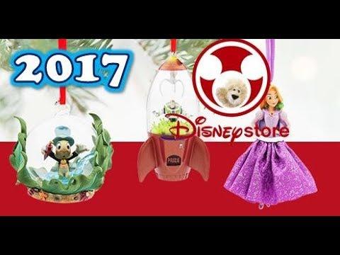 2017 Disney Store Ornament Christmas Tree Sketchbook Holiday Video Mickey Princess Cars Lion King