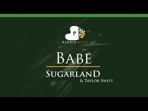 Sugarland - Babe ft. Taylor Swift - LOWER Key (Piano Karaoke / Sing Along)