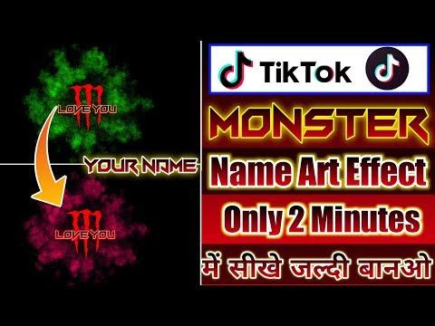 Tik Tok New Trend Monistar Name Art Video Kaise Banaen | Monster Name Art Video Kaise Banaey