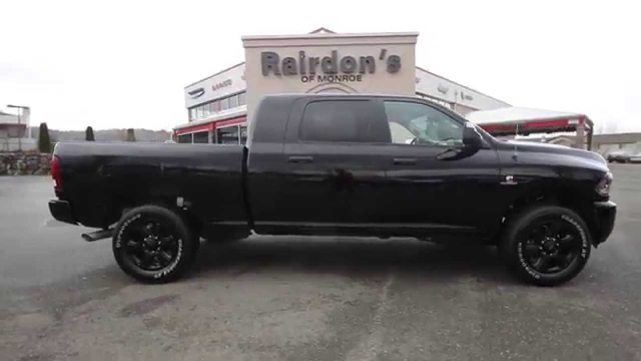 Black Ram 2500 >> 2015 Dodge Ram 2500 Big Horn Crew Cab Black On Black Fg571385 Everett Snohomish