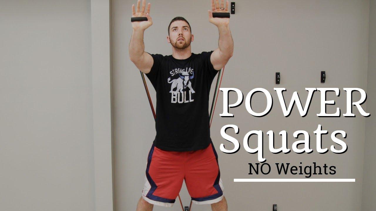 Power Squats at Home, No Weights