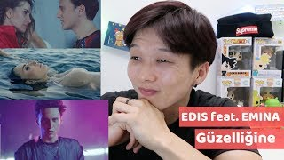 EDIS FT. EMİNA - GÜZELLIĞINE REACTION!!! | Turkish MV | Korean Kebin Reaction Video