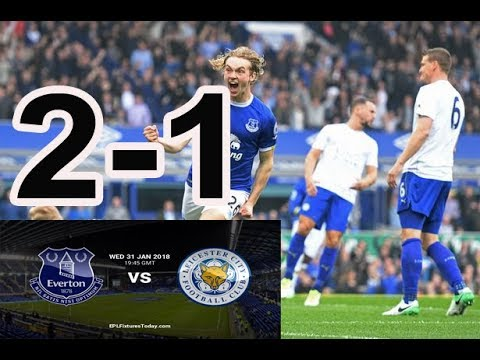 Download Everton vs Leicester City, Skor 2-1 All Goal 1 Feb 2108