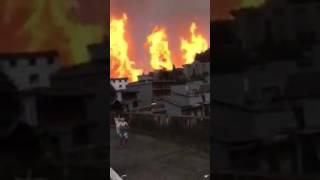 贵州黔西南兴义市沙子岭镇输油管爆炸