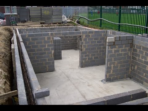 How to build a basement how to build a basement and for Basement foundations construction