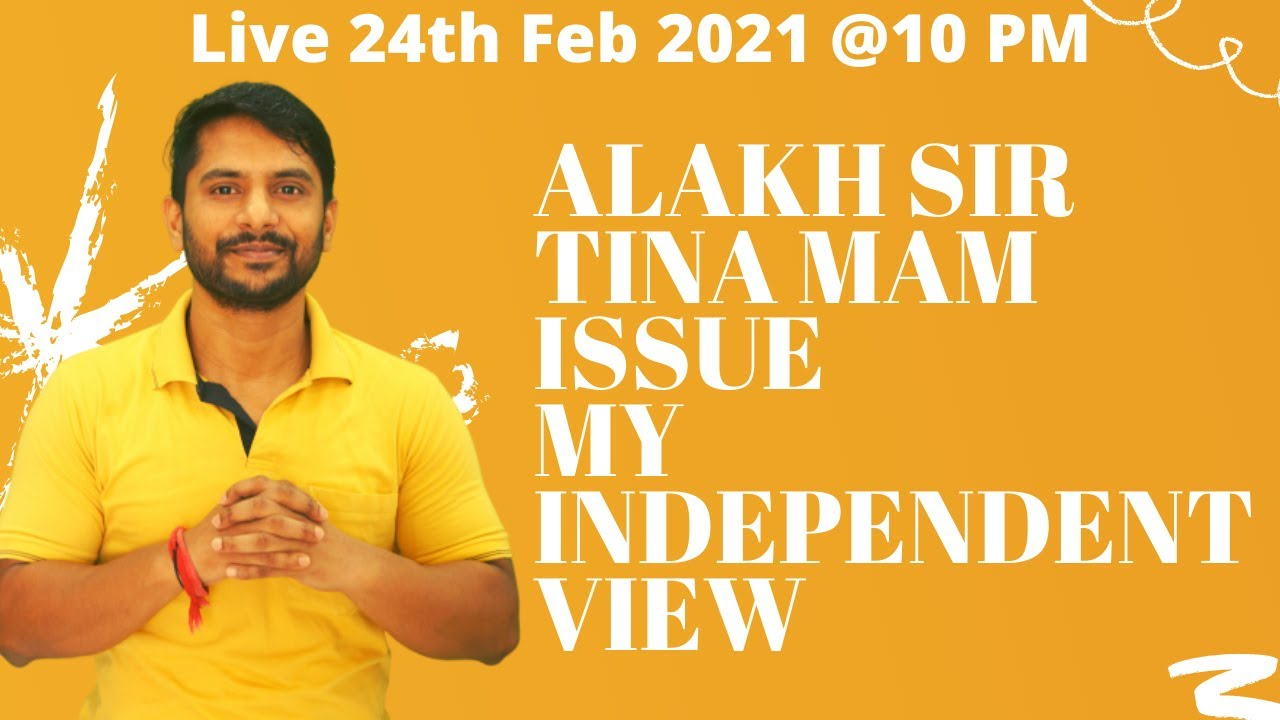 Download Alakh Pandey (Physics Wallah)   Tina Ma`am   Who is Right? An Open Discussion !