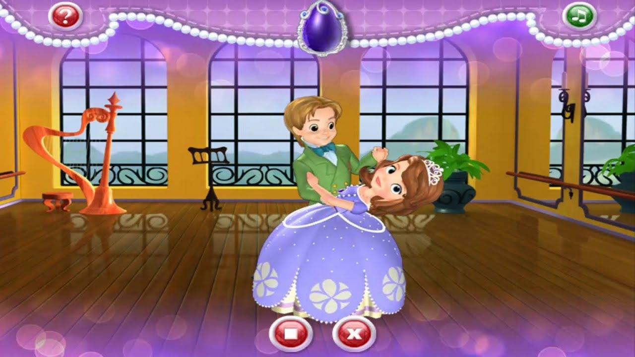 La Princesa Sofía Vals De Salón De Sofía Playhouse Disney Juegos Juegos De Sofia En Español Youtube