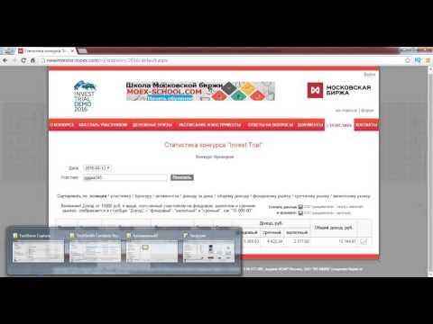 Результат 3 дней торговли в конкурсе   Московская биржа! Более 10 счетов