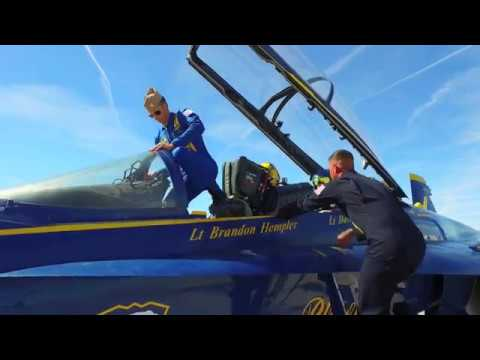 UP, UP and AWAY in a Blue Angels Jet on Traveling With Francoise