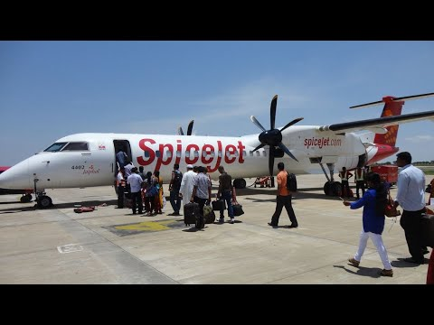 SpiceJet Bombardier Q400 Take off from Madurai  (SG3314 | VT-SUM)