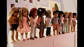Gambar cover All My American Girl Dolls - white fox stopmotion doll collection 2017