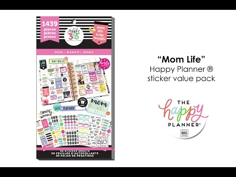 the happy planner sticker value pack mom life blitsy