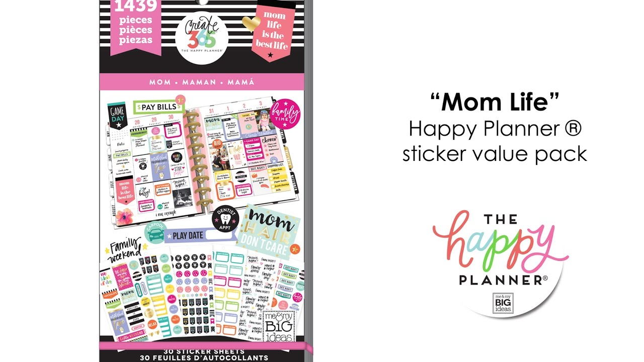 value pack stickers mom