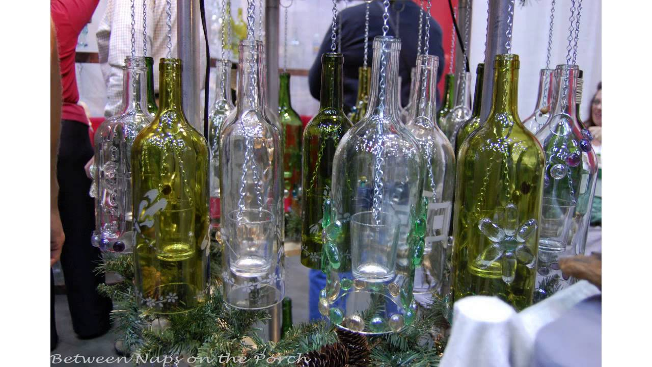 How To Make A Wind Chime How To Create Your Own Green Retro Wind Chime Out Of Recycled Wine