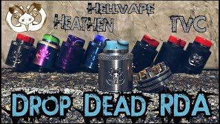 The Drop Dead RDA I A Collaborative Creation by Heathen and TVC I HellVape