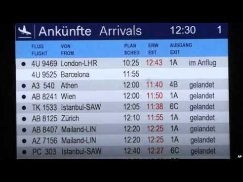 Germanwings plane 4U 9525 crashes in French Alps - 150 people on board - no survivors