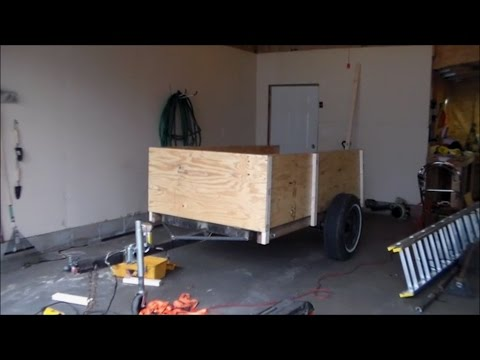Utility Trailer Build part 3 Finally Finished The Sides