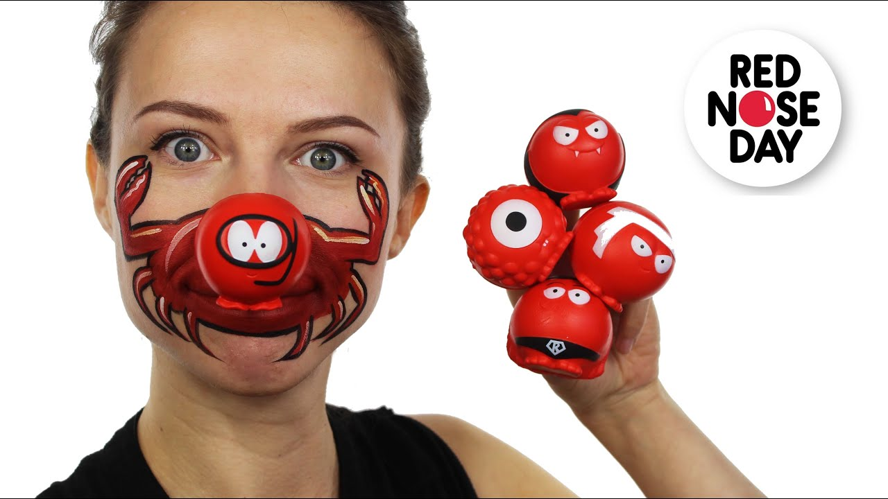 Uncategorized Funny Face Paint Ideas red nose day face paint tutorial youtube