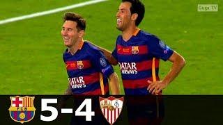 барселона - Севилья 5-4 - Обзор Матча Суперкубка Европы 11/08/2015 HD
