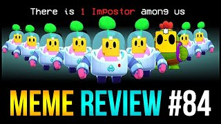 Who is the IMPOSTOR?? AMONG US x Brawl Stars | Meme Review #84