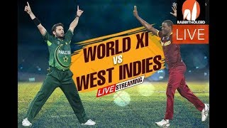 ICC World XI vs West Indies live streaming | World XI vs West Indies Broadcast Channels