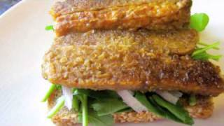 This Video Previously Contained A Copyrighted Audio Track. Due To A Claim By A Copyright Holder, The Audio Track Has Been Muted.     Cook Train Eat Race - Tempeh Bacon, Arugula, Tomato And Avocado Sandwich