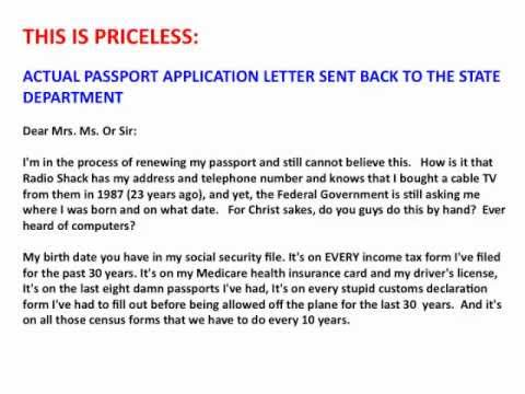 Cover Letter For Damaged Passport