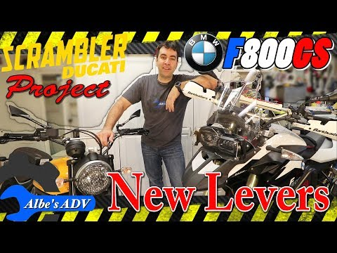 Machined, Extendable, Foldable Aluminum levers, F800GS and Scrambler
