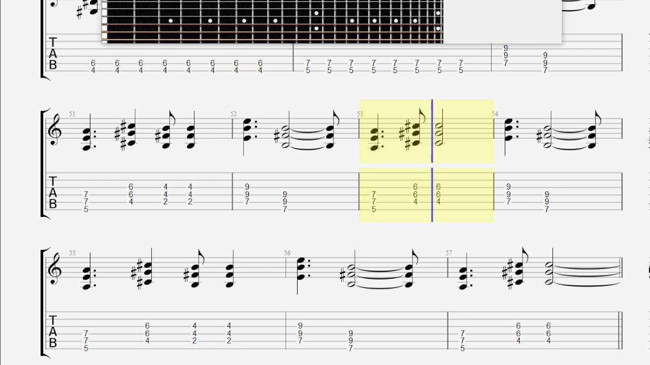 Cars, The Just What I Needed GUITAR 3 TAB - YouTube