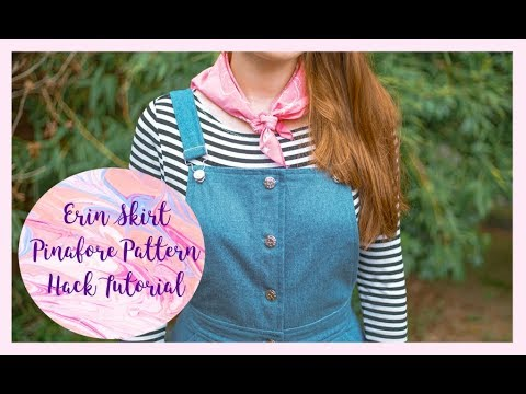 0ce40f19759a DIY Denim Pinafore  Erin Skirt Pattern Hack Tutorial - YouTube