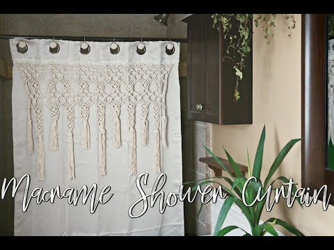 HOW TO: DIY Macrame Shower Curtain .
