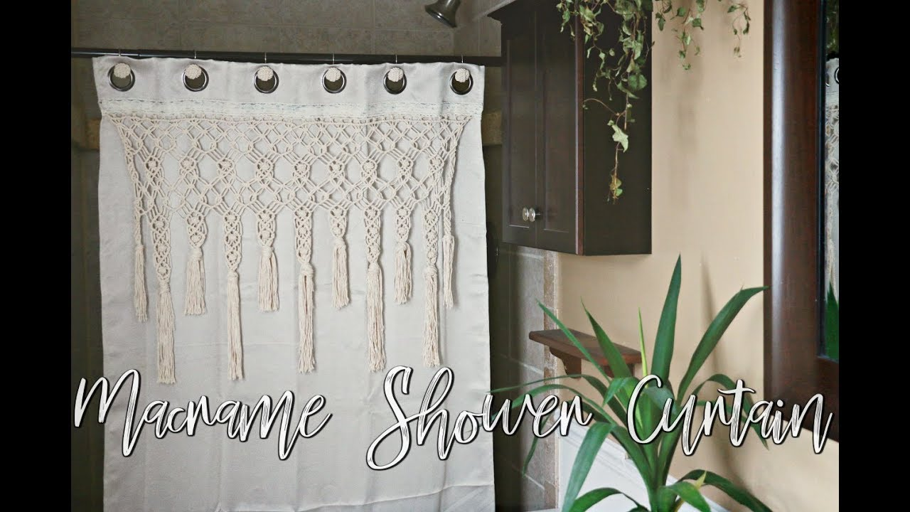 How To Diy Macrame Shower Curtain