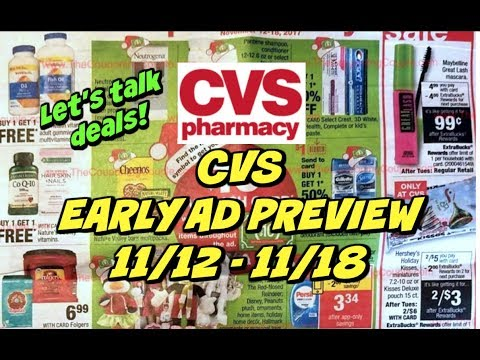 CVS EARLY AD PREVIEW FOR 11/12 - 11/18 | GREAT FREEBIES THIS WEEK!