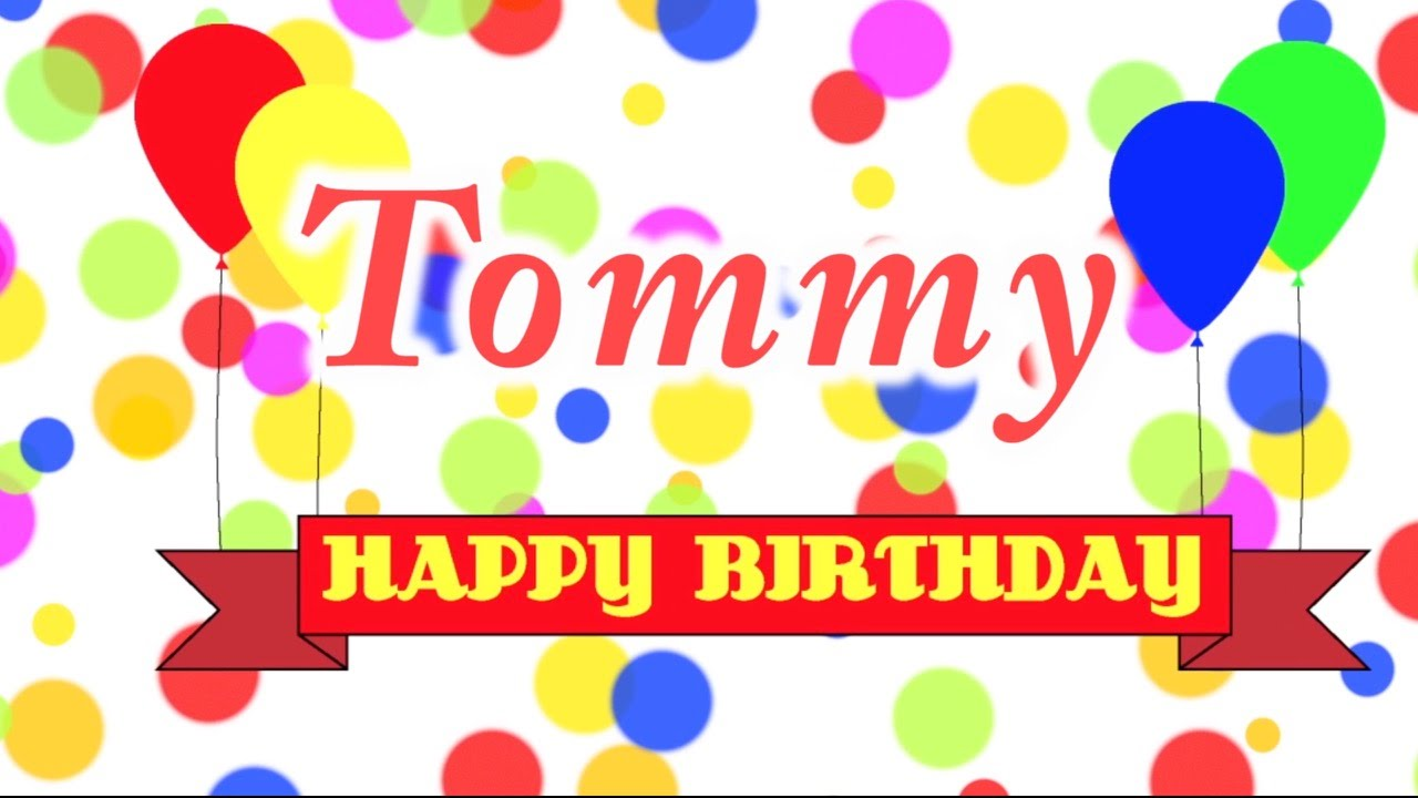 Happy Birthday Tommy Cake