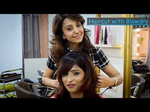 Haircut with Blowdry technique by Shirin Merchant