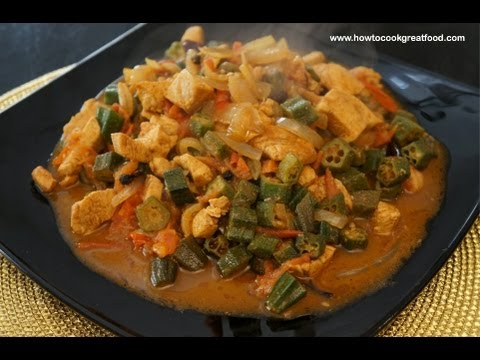 Chicken Okra Curry Ladies Fingers Indian Masala Youtube
