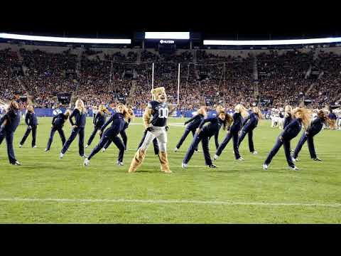 Cosmo the Cougar & the Cougarettes Dance - BYU Vs Boise St 2017