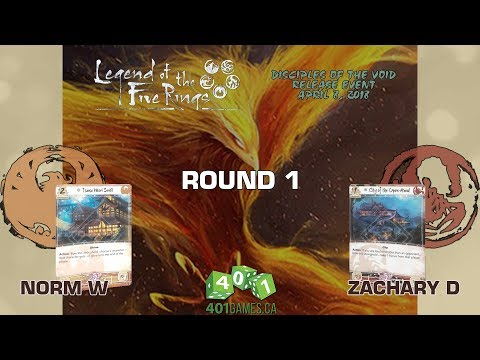 Legend of the Five Rings - Round 1 | Disciples of the Void Release Event @ 401 Games