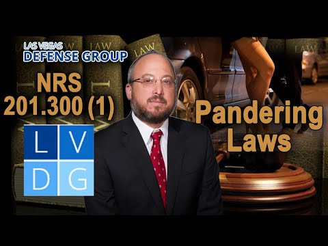 "Is pimping (""sex trafficking"") legal in Nevada? Pandering laws (NRS 201.300)"