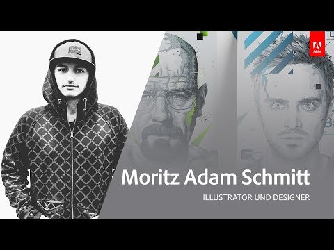 Live Illustration mit Moritz Adam Schmitt - Adobe Live 1/3