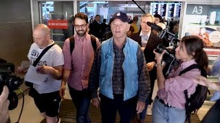 Bill Murray creating a chaos with crazy japanese arriving at Nice airport for the 2019 Cannes Film F