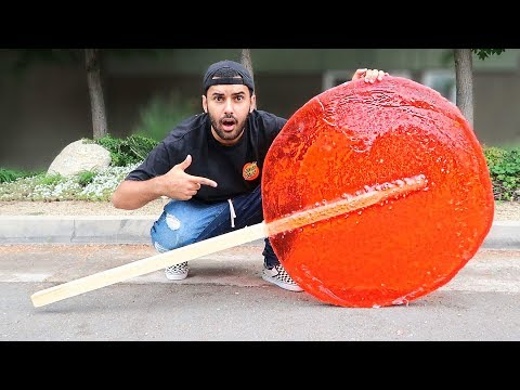 DIY WORLD BIGGEST LOLLIPOP!!! EXTREMELY AWESOME!! *WORLD RECORD*