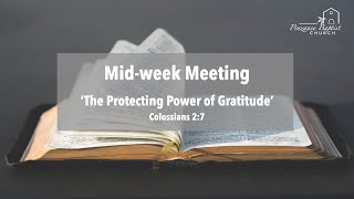 The Protecting Power of Gratitude - Colossians 2:7