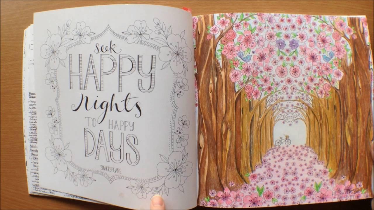 Joyous Blooms To Color By Eleri Fowler Colouring Book Flipthrough Colour